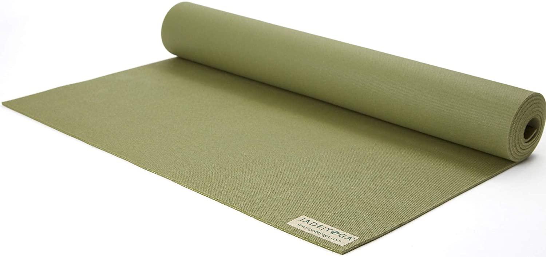 "Jade Yoga 868OL Travel Mat, Olive Green, 1/8"" 24"" x 68 ..."